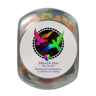 Jelly Belly Jar Rainbow Wedding Favors Gay Pride Jelly Belly Candy Jar