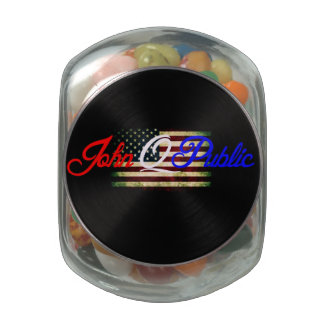 "Jelly Belly™ Presents ""John Q. Public"" Glass Jar! Glass Candy Jars"