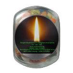 Jelly Bin Tin Glass Candy Jar