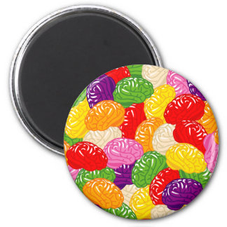 Jelly Brains 2 Inch Round Magnet