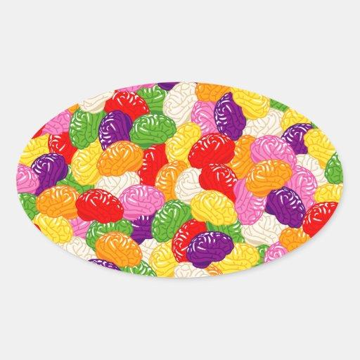 Jelly Brains Oval Sticker