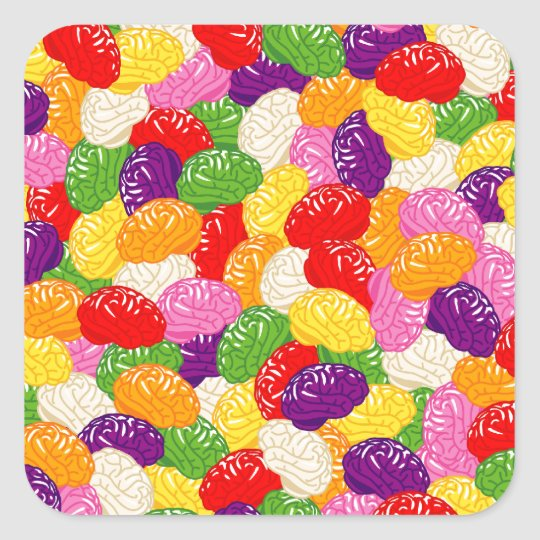 Jelly Brains Square Sticker