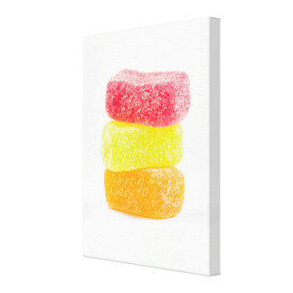Jelly Candies Wrapped Canvas