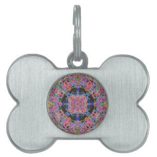 Jelly Candy Sweet Mandala Squares And Circles Pet ID Tag