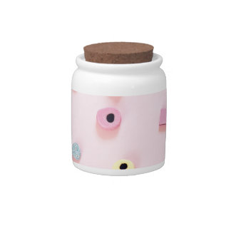 Jelly colored candy candy jar