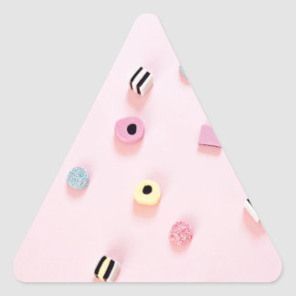 Jelly colored candy triangle sticker