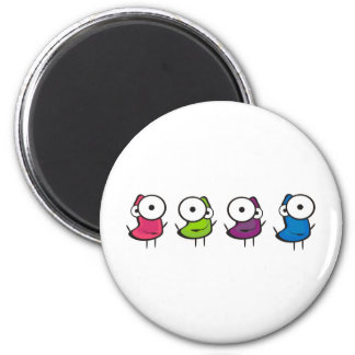Jelly Dancers 2 Inch Round Magnet