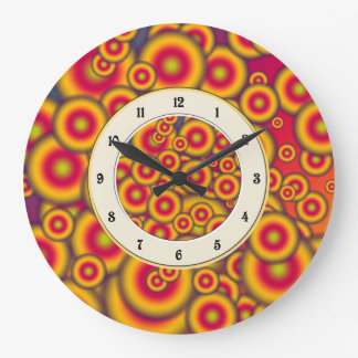 Jelly Donuts Invasion Large Clock