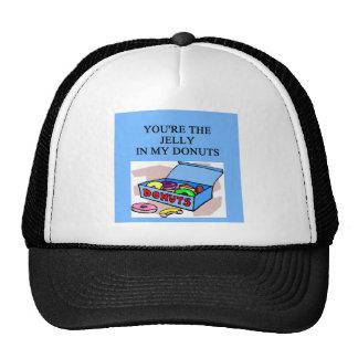 jelly donuts lovers trucker hat
