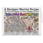 Jelly Filled Donut Martini Recipe Greeting Card