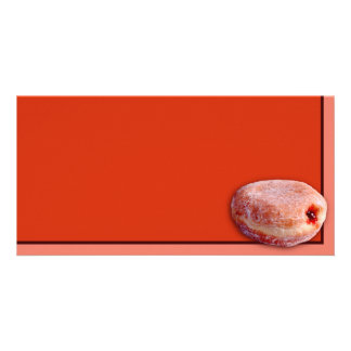 Jelly Filled Donut Photo Card Template