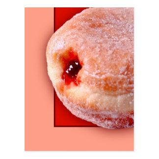 Jelly Filled Donut Postcard