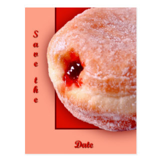 Jelly Filled Donut Post Cards