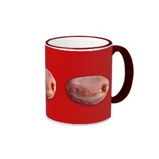 Jelly Filled Donut Ringer Coffee Mug