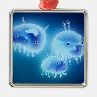 Jelly fish 2013 metal ornament