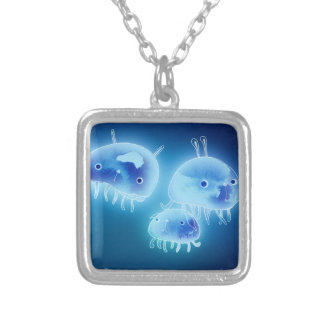Jelly fish 2013 silver plated necklace