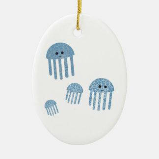 Jelly Fish Ceramic Ornament