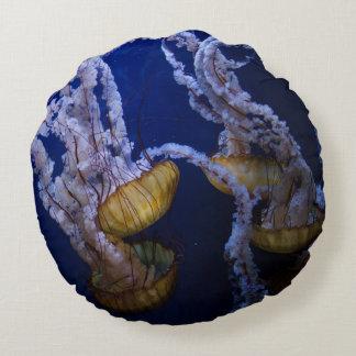 Jelly Fish deep sea beautiful throw pillow