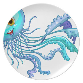 Jelly fish dinner plate