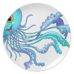 Jelly fish dinner plates