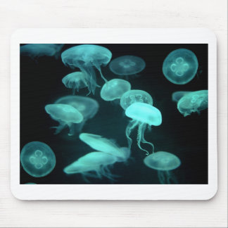 jelly fish glowing mouse pad