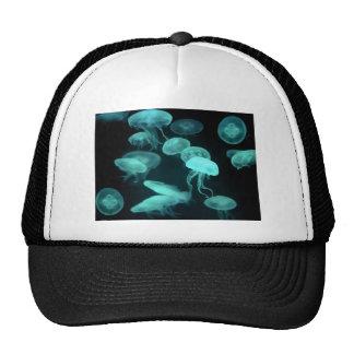 jelly fish glowing trucker hat