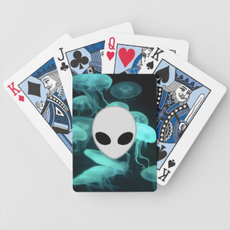jelly fish glowing with alliean deck of cards