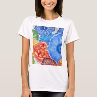 Jelly fish in red, blue and yellow. ART. T-Shirt