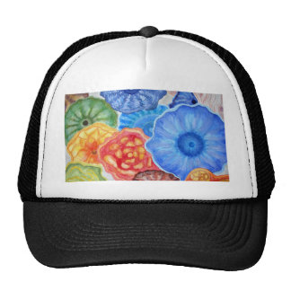 Jelly fish in red, blue and yellow. ART. Trucker Hat