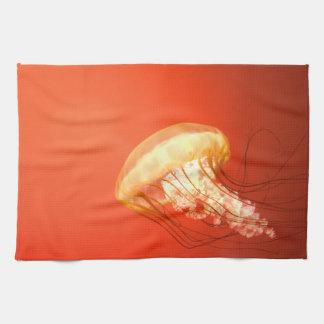 Jelly fish hand towel