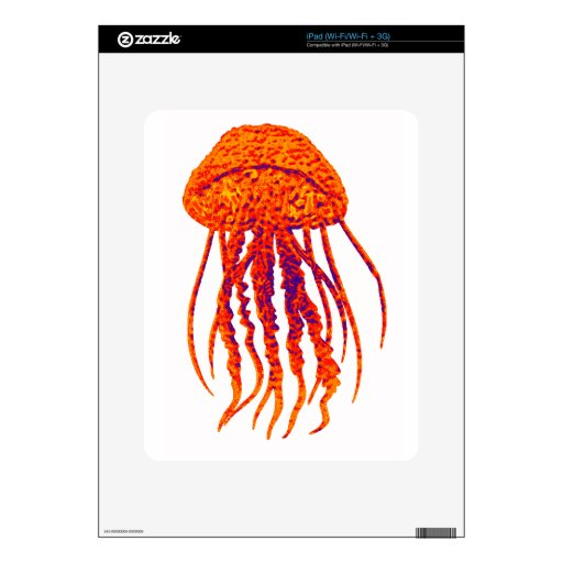 JELLY FISH STYLED DECALS FOR THE iPad