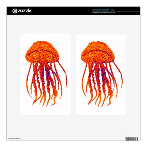 JELLY FISH STYLED KINDLE FIRE DECALS