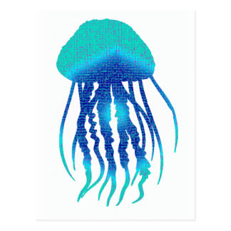 JELLY FISH STYLED POST CARDS
