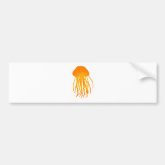 JELLY FISH SUN CAR BUMPER STICKER