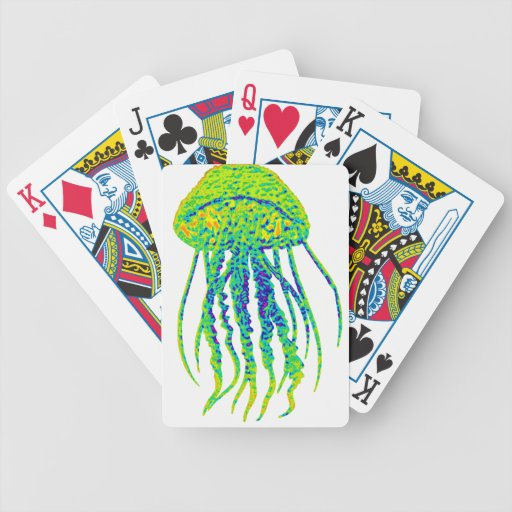 JELLY FISH TRACK BICYCLE POKER CARDS