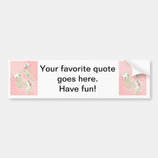 Jelly fishes on pastel pink background. bumper sticker