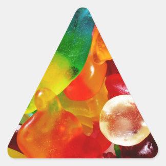 jelly gum triangle sticker