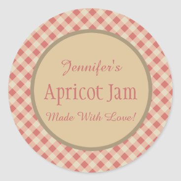 Jelly Jam Custom Jar Baking Bakery Classic Round Sticker