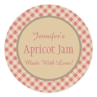 Professional Business Jelly Jam Custom Jar Baking Bakery Classic Round Sticker