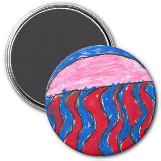 Jelly Jelly Fish Fish 3 Inch Round Magnet