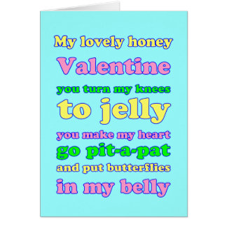 Jelly Knees Valentine Greeting Cards