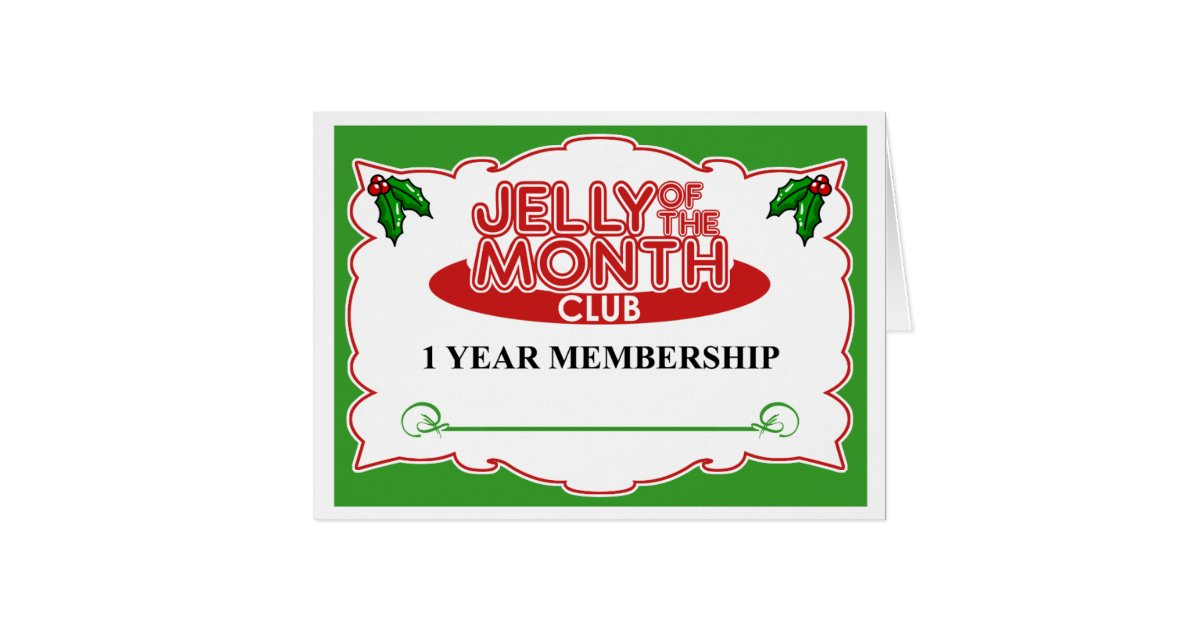 Jelly of the month club card zazzle for Craft of the month club