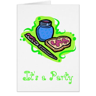 Jelly on bread card