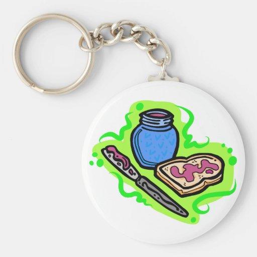 Jelly on bread key chain