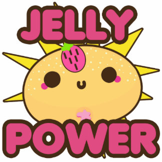 Jelly Power Standing Photo Sculpture