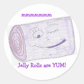 Jelly Rolls are YUM! Classic Round Sticker
