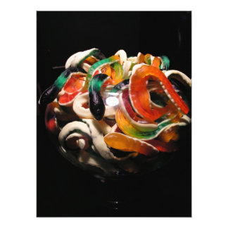 Jelly snakes photographic print