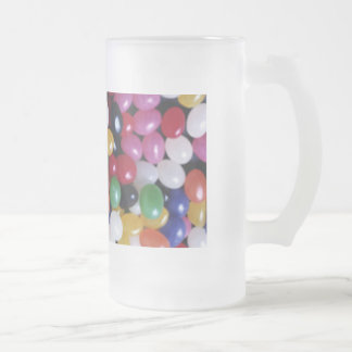Jellybean delights by Valxart.com Frosted Glass Beer Mug