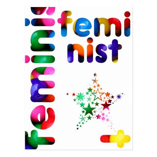 Jellybean feminista postal