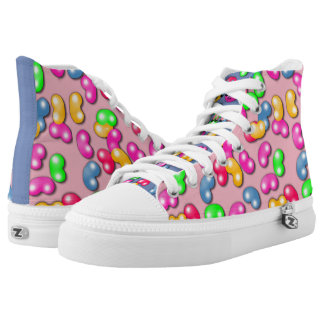 Jellybean Queen High Tops, Cotton Candy Pink High-Top Sneakers